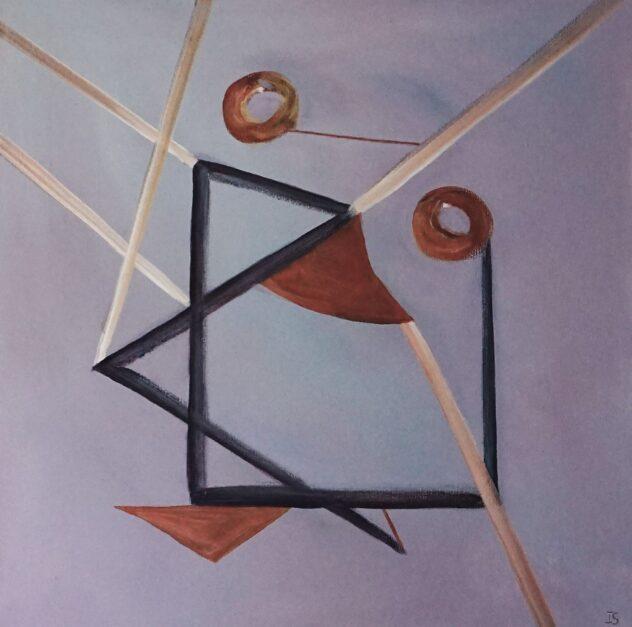 Himmelstrøg, 50 x 50 cm